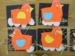 paper chicken craft  kids crafts  worksheets