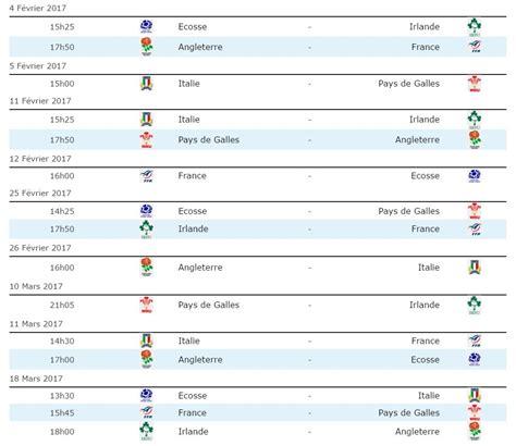 Calendrier Tournoi Tournoi Des 6 Nations