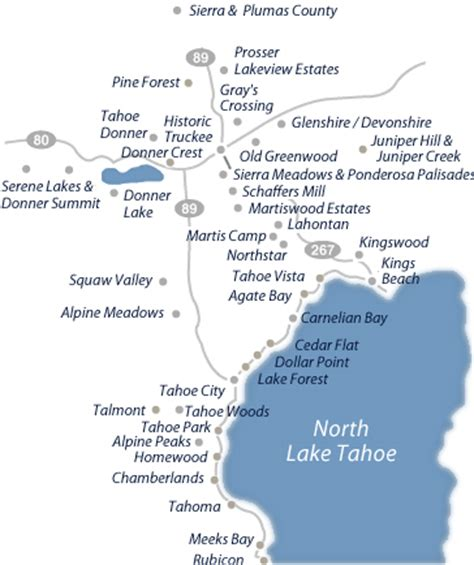 search by map for real estate in north tahoe and truckee