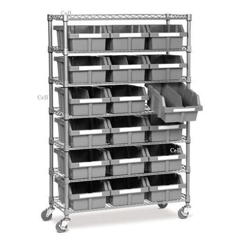 commercial bin rack storage bins shelves shelving nsf