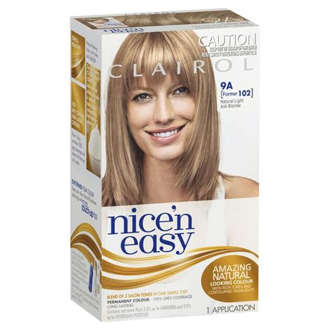 nice and easy hair colour chart buy clairol nice easy 102 natural light ash blonde