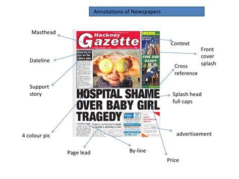 newspaper layout strapline newspaper presentation