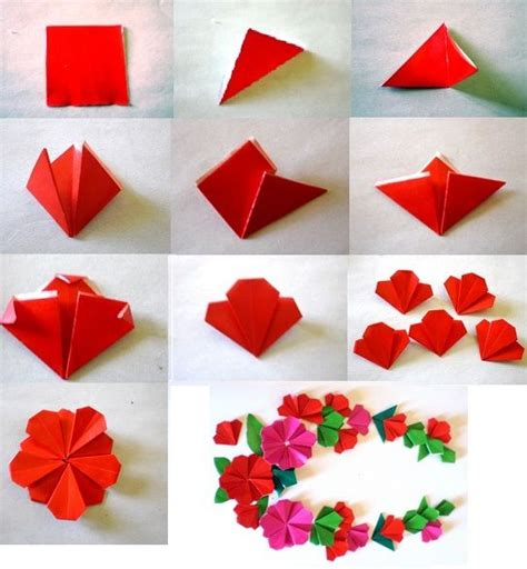 new year origami flower really sweet flat origami flower origami
