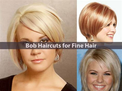 haircuts of bobs amazing bob haircuts for fine hair hairstyle for women