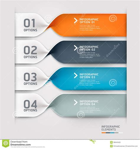 web layout options modern spiral infographics options banner stock vector