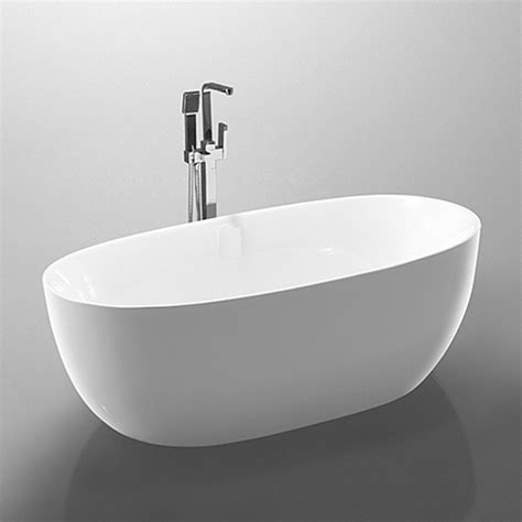 bathroom acrylic free standing bath tub thin edge 1700 x