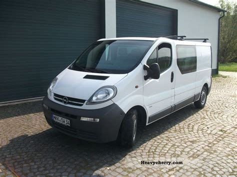 opel vivaro 2003 opel vivaro 2003 box type delivery van long photo and specs