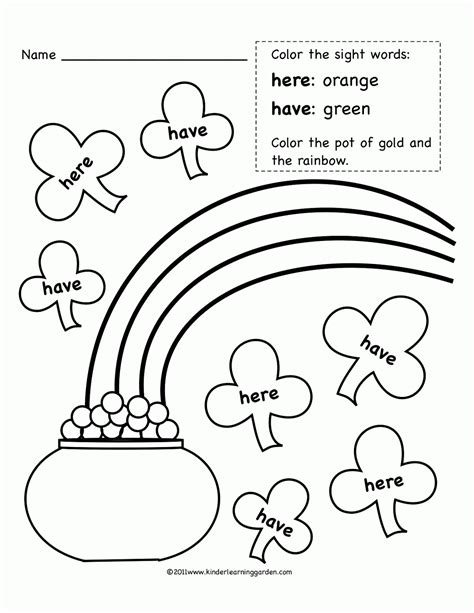 V Words Coloring Page by Sight Words Coloring Pages Coloring Home