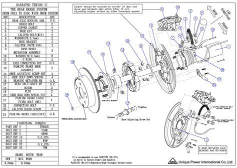 Disc Brake Seal Kit D Terios type unique power int l