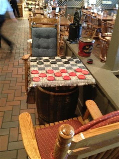 checker table picture of cracker barrel oklahoma city