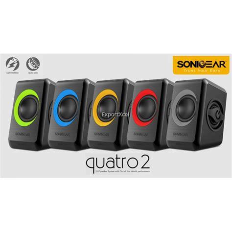 Speaker Pc Laptop Notebook Sonicgear Quatro V Bass sonicgear quatro 2 usb speaker