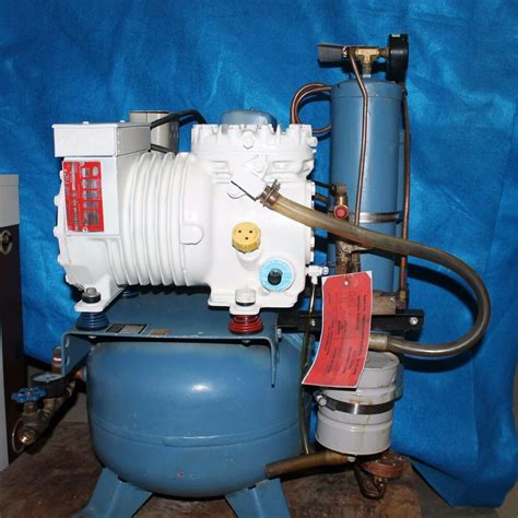 air techniques dental compressor 1 hp with dryer 115v 7805 ebay