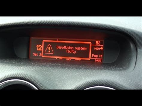 depollution system faulty peugeot 307 peugeot 308 depollution system faulty error code p1340