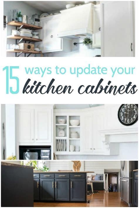 15 Amazing Ways to Redo Kitchen Cabinets   Lovely Etc.
