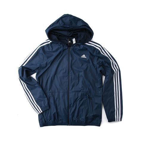 Jaket Adidas 3 Colour mens adidas 3 stripes windbreaker jacket blue 43638