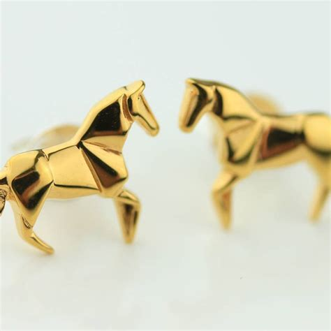 Gold Origami - stunning gold origami earrings by nest