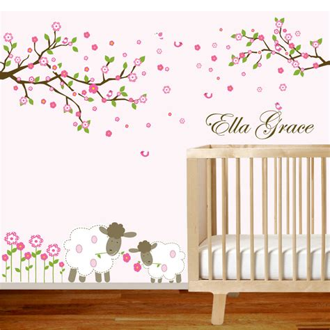 vinyl wall decal branch set nursery wall decal by