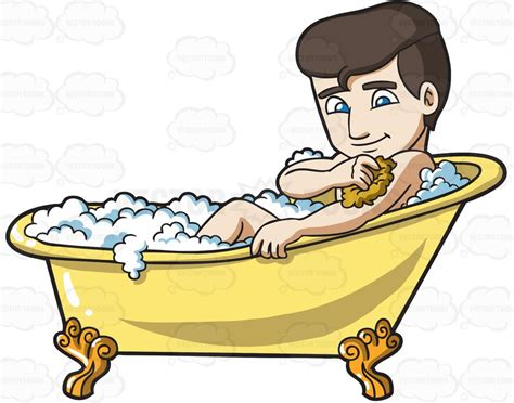 man in a bathtub cartoon clipart a man scrubbing in a tub