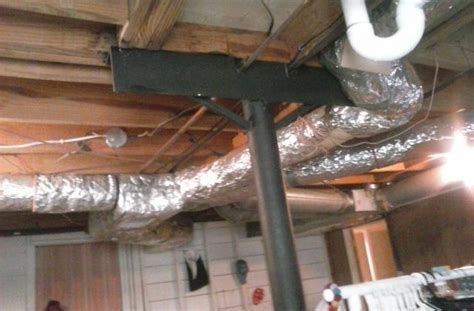 low profile ductwork basement hiding flex duct work in basement ceiling tiki central