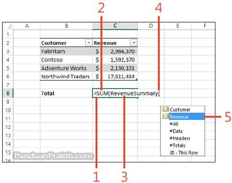 membuat header di excel 2013 cara membuat formula yang mereferensikan nilai di dalam