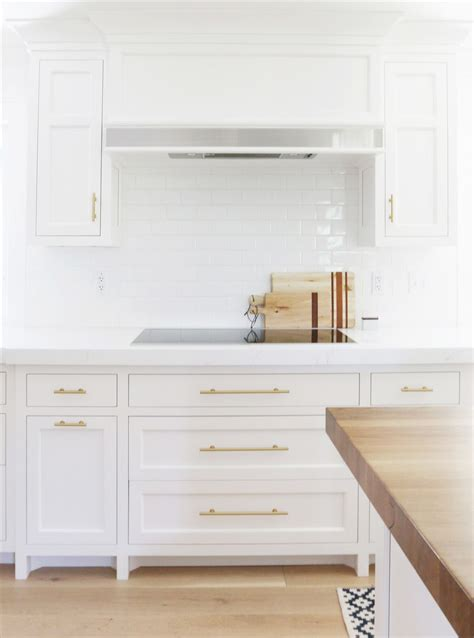 white cabinets with gold hardware before and after robin road kitchen remodel studio