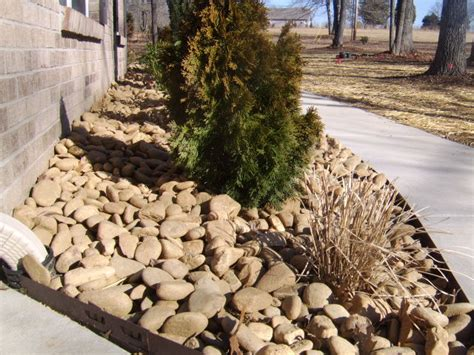 landscaping front river rock landscaping ideas decorative