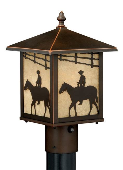 Outdoor L Post With Outlet And Photocell by Vaxcel Lighting Burnished Bronze Trail Outdoor Post Light