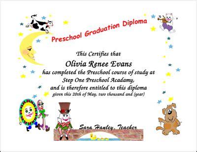 graduation certificates preschool, kindergarten graduation