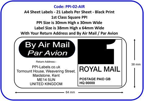 printable airmail stickers air mail airmail small packet printed papers labels
