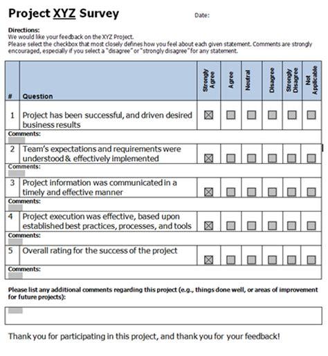 customer satisfaction survey | pm foundations
