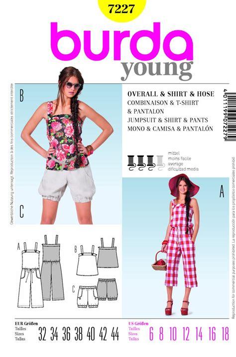 jumpsuit sewing pattern burda burda 7227 jumpsuit and shorts