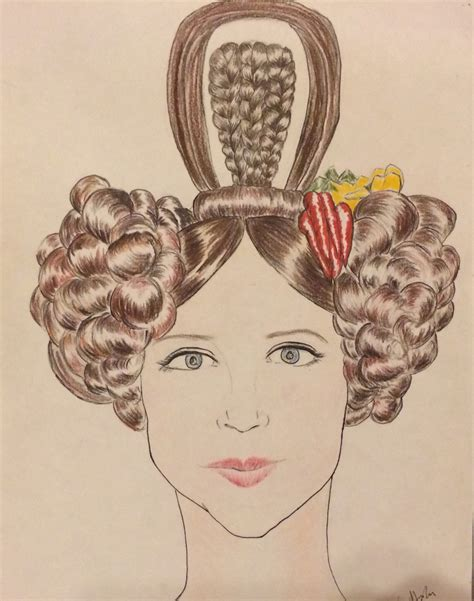 hairstyles from 1830s illustration ashley e hughes