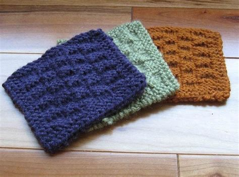 knitted coasters free patterns knit basket or checkerboard coasters 183 how to stitch a