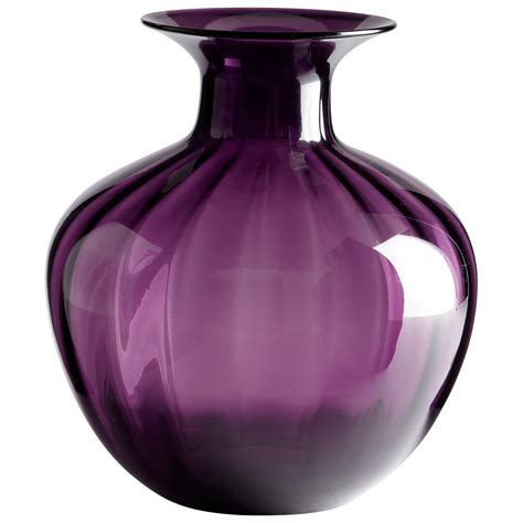 cyan design 05348 alessandra vase in purple homeclick