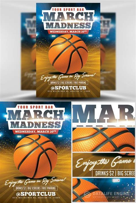 customizable design templates for march madness flyer postermywall