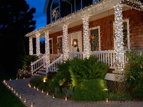 christmas decorating outdoor columns 1000 images about porch on porch front porches and