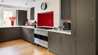 dark grey shaker kitchen from harvey jones