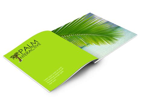catalog design mockup palm catalog mockup