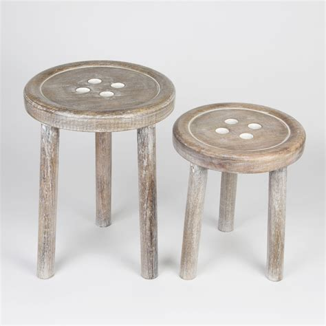 Set Of Stools by Set Of 2 Button Stools
