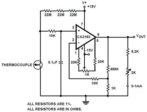 Thermocouple Lifier Circuit Diagram electronic schematic symbols get free image about wiring
