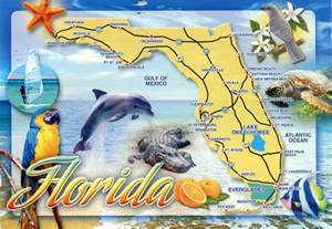 detailed tourist map of florida state florida state