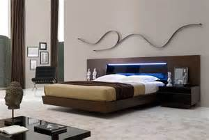 Light Bedroom Set Contemporary Bed With Led Light Sj Belia Contemporary Bedroom