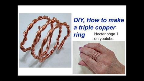 how to make copper jewelry diy how to make a copper wire ring diy jewelry