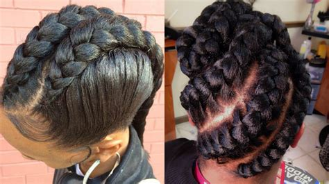 One Braid Black Hairstyles by Stunning Goddess Braids Hairstyles For Black