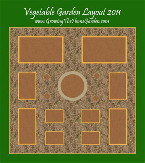 Raised Bed Vegetable Garden Layout Vegetable Garden Layout With Raised Beds For 2011 Growing The Home Garden