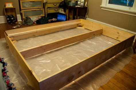 how to make a bed frame out of pallets diy bed frame making life pretty