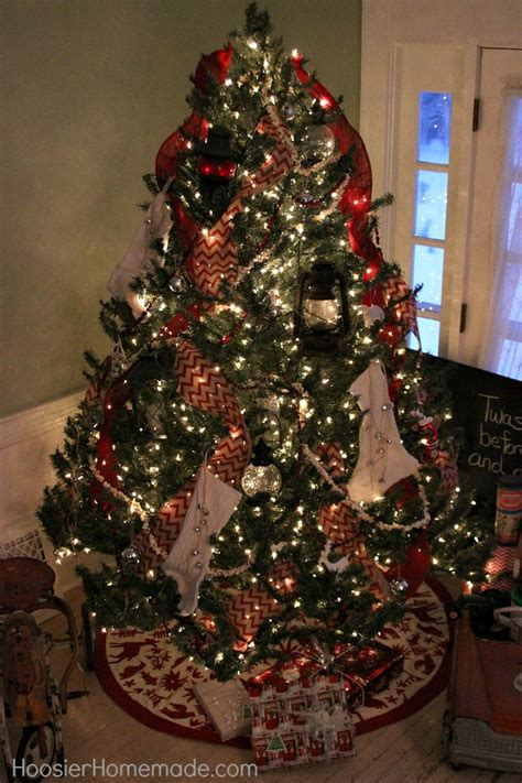 vintage christmas tree hoosier homemade