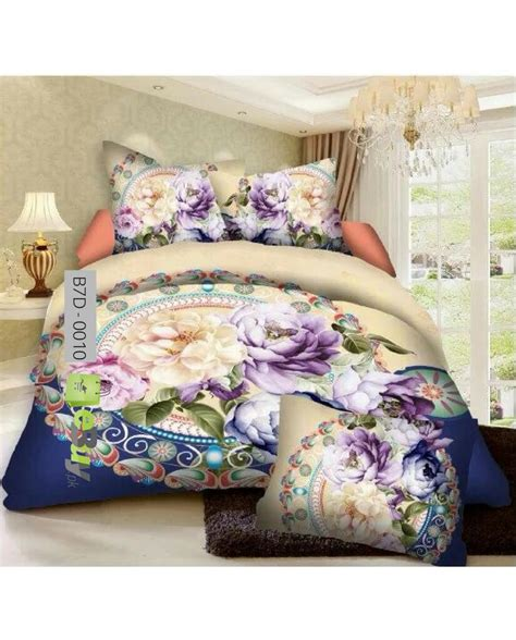 bed sheets online buy multi color flowers printed 7d bed sheets in pakistan
