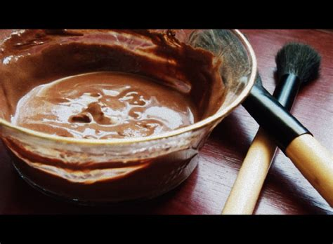 diy cocoa mask for the of chocolate luxe organic