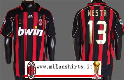 Longsleeve Vans Fonts ac milan home maillot de foot 2006 2007 sponsored by bwin